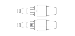 "Adapter   2"" IF Pin   QF300 Pin"