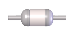 """Plain Barrel Stabilizer with a 20"""" pack diameter and Box/Box connection on a 27F shaft"""