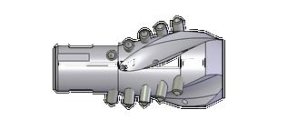 "Reamer | Juggernaut | 8"" Cut Dia. | 2-3/8"" Reg (F) x 2-5/8""-16 box rear thread | Conical Cutter Teeth"