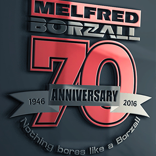 Melfred Borzall's 70th Birthday logo